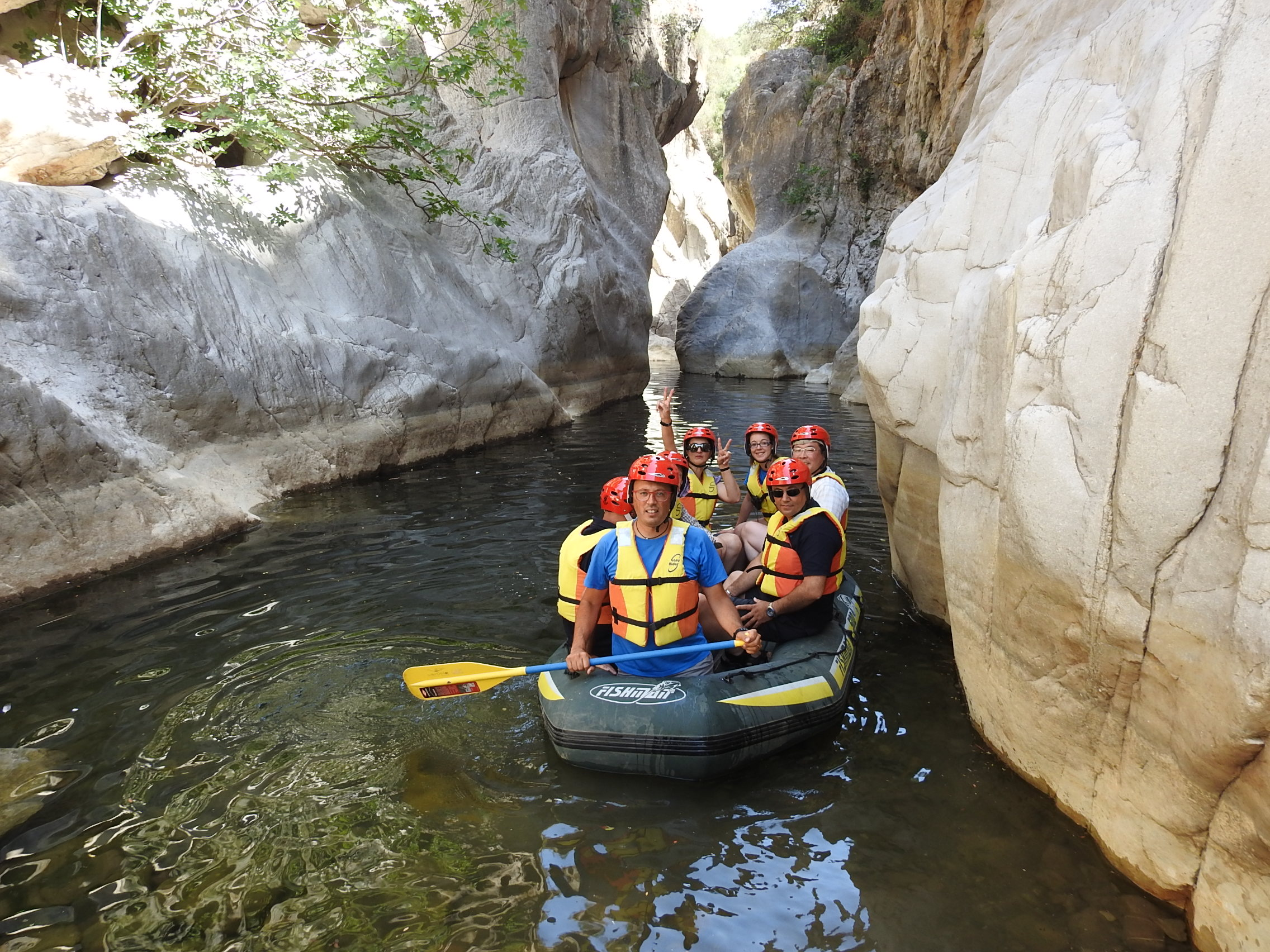 Tiberio Gorges excursion on rubber boat